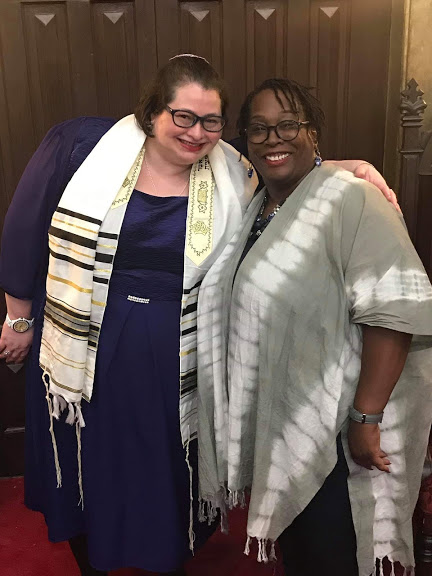 Rabbi Emily with Dierdre Parker